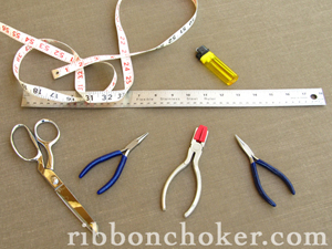 Pliers, Scissors, Lighter and Ruler